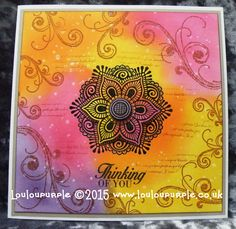 #lovesummerart How To Make A Heat Embossed Card, Distress Inks And Micro...