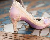 Pink Wedding shoes Size 8 SALE