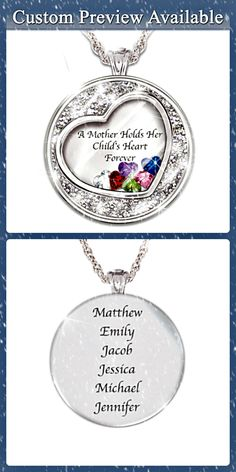 mothers necklace love the floating heart birthstones and the inscription a mother holds great mothers day gifts 2018