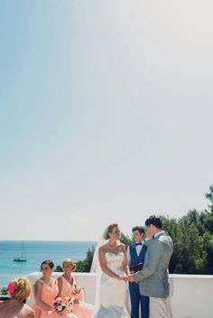 Views to die for at Samantha and John's Ibizan wedding.  Image by Neil Thomas Douglas Photography.