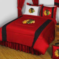 NHL Chicago Blackhawks Comforter Pillowcase Hockey Bedding