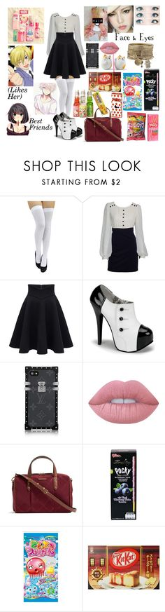 """Miho Shimatowa (Updated reference) (Ouran Highschool Oc)"" by lord-nightshade on Polyvore featuring Lime Crime and Vera Bradley"