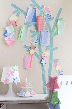 Star Festival 笹がなくてもOK! マスキングテープと折り紙で七夕飾り☆