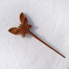 carved by Mariya    Material: mahogany Measurements:    Overall length is 6.69 (17cm)  Functional prong length is 4.92 (12.5 cm)        This