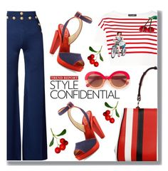 A little bit of the stripes by drigomes on Polyvore featuring polyvore fashion style Dolce&Gabbana Balmain Christian Louboutin Prada Max&Co. clothing