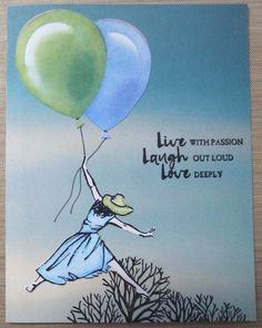Beautiful You with balloons  i can't wait tto try this out. www.stampinstilettos.stampinup.net