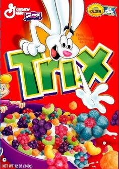 One of my favorite childhood cereals! They don't make this exact type anymore with the special flowers :/