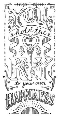 30 Amazing Hand Lettering Designs  You Hold the Key To Happiness by Ohn Mar Win