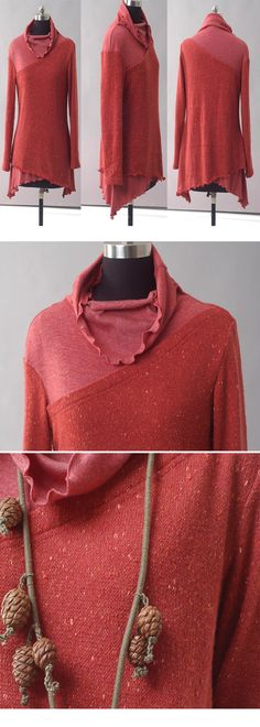 layered woolen tunic dress