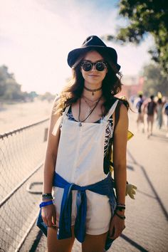 Love this street style look from Austin City Limits