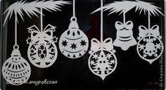 Декор предметов Новый год Вырезание Ура  Наши окна готовы Новый год встречать Бумага фото 6