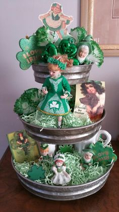 3 Tiered Tray for St. Patrick's Day! <3