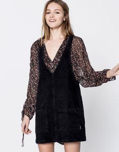 Vestido vaquero manga sisa - Ver todo - Novedades - Mujer - PULL&BEAR España