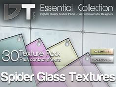 30 Spider Glass Textures - Full Perm - DT Essential Collection