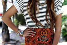 Love this unconventional pattern duo!