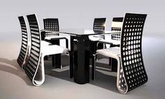 Futuristic Push Table Dining Design by Svilen Gamolov Dining Room Furniture, Dining Room Table, Home Furniture, Dining Set, Dining Rooms, Furniture Ideas, Dining Table Design, Modern Dining Table, Furniture Styles