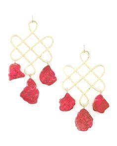 Devon Leigh Red Howlite Drop Earrings - Neiman Marcus