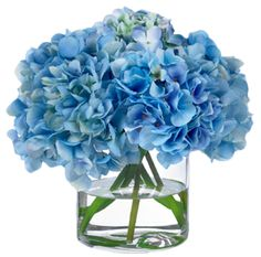 hygrangea Blue Paper Napkins | Hydrangea-diane-james-home
