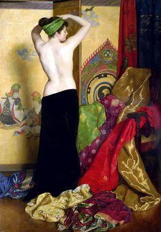 artemisdreaming:    Pomps and Vanities, 1917  John Collier  Detail