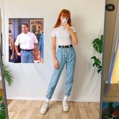 Look at this cutie recreating Monica's outfits🌈 which one is your favourite? Vintage Outfits, Retro Outfits, Stylish Outfits, Grunge Outfits, Tv Show Outfits, Mode Outfits, Fashion Outfits, Friends Mode, Looks Teen