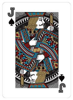 Playing card design: Jack of Spades