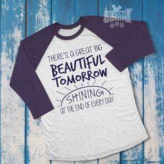 There's a Great Big Beautiful Tomorrow | Unisex Raglan Tee | Disney-Inspired | Carousel of Progress by RideGuideGoods on Etsy