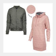 Wie wäre es mit diesem schicken cozy Look? Schau gleich mal bei uns im Shop vorbei! www.94fashionstore.de Shops, Outfit, Raincoat, Jackets, Shopping, Women, Fashion, October, Rain Jacket