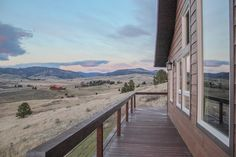 Backdeck at 740 Bozeman Hill Road, Bozeman, MT