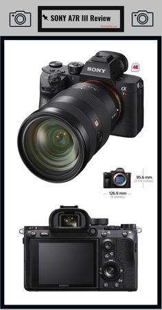 Sony never fails to impress the audience and it has launched another remarkable product recently in form of Sony III. The full frame camera Sony Camera, Camera Gear, Best Camera, Digital Camera, Camera Hacks, Camera Case, Photography For Beginners, Photography Camera, Photography Tutorials