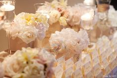 blush and neutral soft palette wedding ~ escort table decor