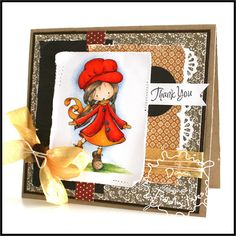 """A card I made for a Tiddly Inks Challenge """"Giving Thanks"""" using the gorgeous Wyrn."""