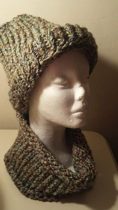 Knitted Beanie  Knit Cap  Brown Tan  by PunkinPatchApparel on Etsy