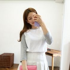 15-d5f56 Girl Fashion, Fashion Outfits, Womens Fashion, Fashion Clothes, Bora Lim, Asia Girl, Ulzzang Girl, Pretty Girls, Korean Fashion