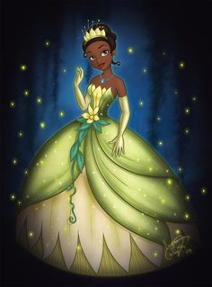 """The Princess and the Frog"" fan art - Tiana by enigmawing Frog Princess, Princess Merida, Disney Princess Art, Disney Fan Art, Princess Party, Tiana Disney, Film Disney, Cute Disney, Disney Magic"