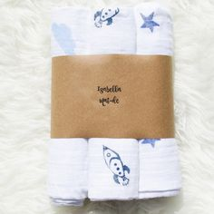 Items similar to Space Odyssey Hand Stamped Muslin Cloth Gift Set - baby shower, baby gift, isabellamaide on Etsy Baby Gift Sets, Baby Gifts, Baby Leggings, All Things Cute, Baby Style, Inspirational Gifts, Hand Stamped, Stamping, Girly