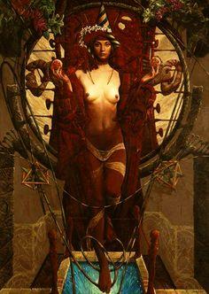 wayofthehermit: Enter the Void…Goddess Babalon Aka The Scarlett Woman Eugenia Loli, Sacred Feminine, Visionary Art, Psychedelic Art, Fractal Art, Erotic Art, Dark Art, Cover Art, Street Art