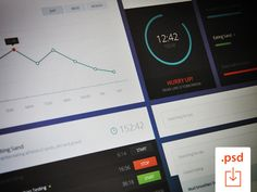 Free PSD: Time Graph UI