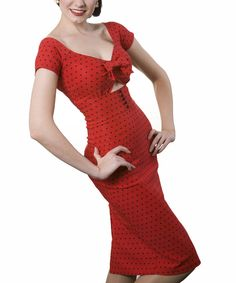 This Red Shame Dress - Women & Plus by Tatyana is perfect! #zulilyfinds