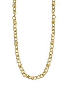 Michael Kors Long Logo Necklace, Golden.