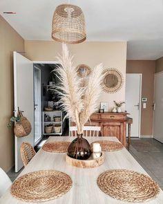 Boho Living Room, Home And Living, Living Room Decor, Bedroom Decor, Living Room Sets, Dining Room, Apartment Decoration, Interior Design Kitchen, Cozy House