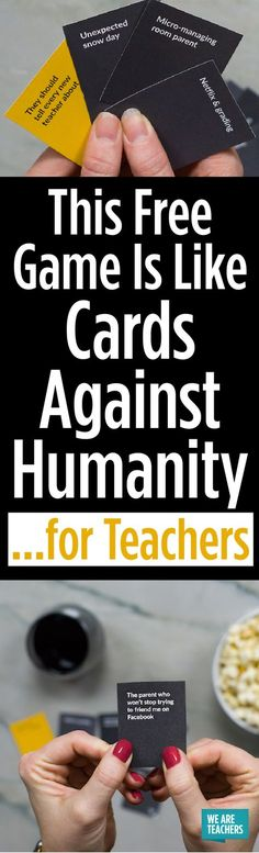 So much fun to play, and free to save and print! #weareteachers #teacherlifegame