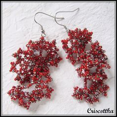Náušnice Stříbrnočervený korál