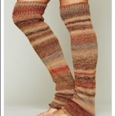 Free People Home Range Leg Warmers Beige Striped DETAILS Chunky patterned knit leg warmers.  Beige motif.  Free People Home Range Leg Warmer Beige NWT.  Sold out everywhere! Free People Other