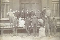 Photograph of Railway Mail Service clerks in Kansas City, Missouri Pioneer Life, Native Indian, Museum Collection, Post Office, Small Towns, Missouri, Kansas City, The Past, Old Things