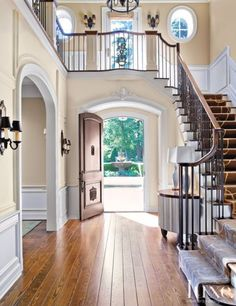 The luxury home redefined villa plan, entry hall, entry stairs, grand en Villa Plan, Style At Home, Foyer Decorating, Interior Design Magazine, House Goals, Home Fashion, My Dream Home, Future House, Architecture Design