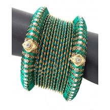 Bangles - Shop for Bangles & bracelets for Women & Girls in different styles Online. Get gold & silver plated Bangles & bracelets at best price on Craftsvilla. Silk Thread Bangles, Thread Jewellery, Jewelry, Bangle Set, Bangle Bracelets, Designer Bangles, Different Styles, Green, Gold