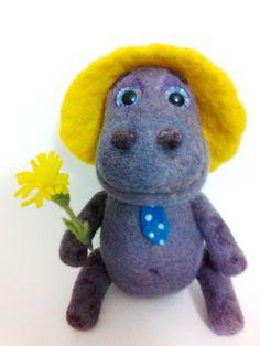 Needle Felted Hippo Bonnie by Valyashki on Etsy