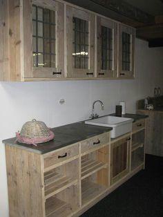 Kitchen palletwood keuken steigerhout