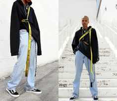 Get this look: http://lb.nu/look/8651321  More looks by Dominic Grizzelle: http://lb.nu/user/6091383-Dominic-G  Items in this look:  Clp Oversized Hoodie, Levis 501, Off White Industrial Belt   #edgy #punk #street #offwhite