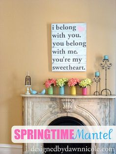 Springtime Mantel by DesignedbyDawnNicole